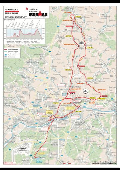 Ironman Frankfurt Radstrecke